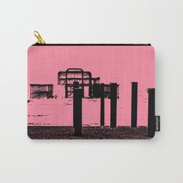 West Pier Mono Pink Carry-All Pouch