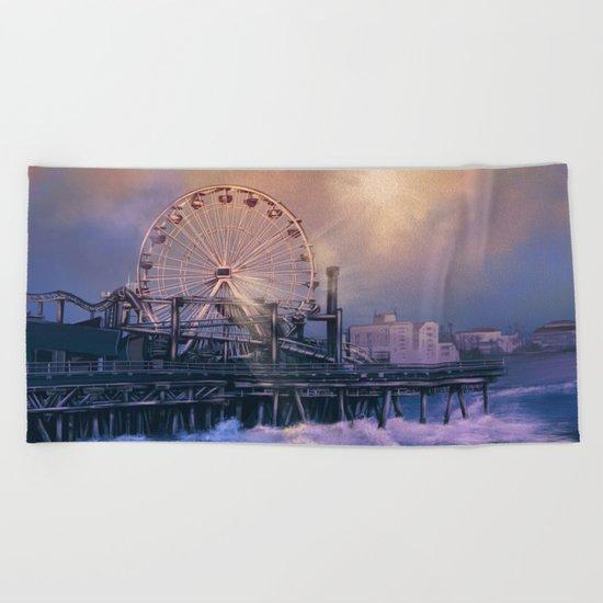 summer landscape Beach Towel