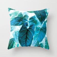 Jungle leaf - invert Throw Pillow