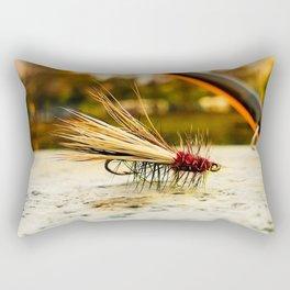 Caddis Fly Rectangular Pillow