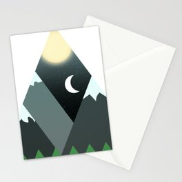 Graphic Minimalist Mountain Scene Stationery Cards