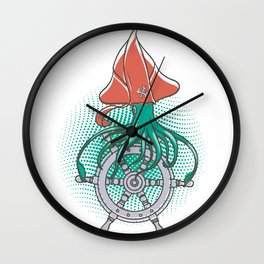 The squid pirate Wall Clock