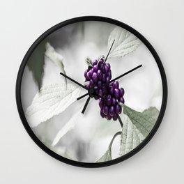 Purple Berries  Wall Clock