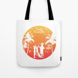 Summer Family Vacation Sunset Beach Tote Bag