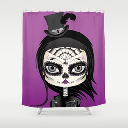 She's In Parties Shower Curtain