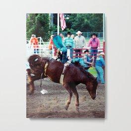 Horse 1, Cowboy 0 Metal Print