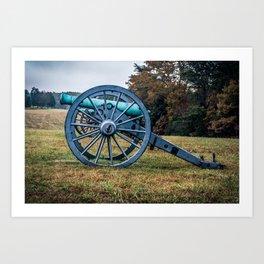 Bull Run Artillery Placement Manassas National Battlefield Park Virginia Color Art Print