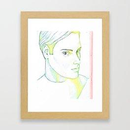 Drawn Boy Framed Art Print