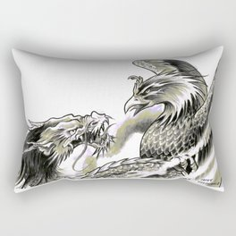 Dragon Phoenix Tattoo Art Print Rectangular Pillow