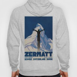 Vintage Zermatt Switzerland Travel Hoody