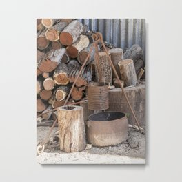 The Camp Fire Metal Print