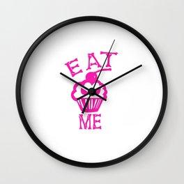 Eat Me (Magenta Version) Wall Clock