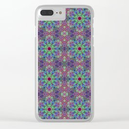 Cellular Geometry Clear iPhone Case