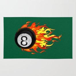 Flaming 8 Ball Rug