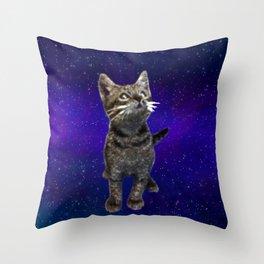Space Kitten Throw Pillow