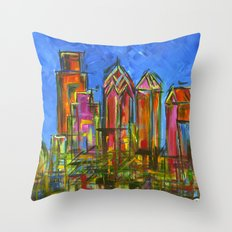 Philadelphia Skyline Throw Pillow