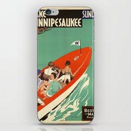 Lake Winnipesaukee - Vintage Poster iPhone Skin