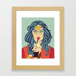 Superhero Coffee Break Framed Art Print