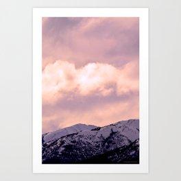 Kenai Mts Bathed in Serenity Rose Art Print