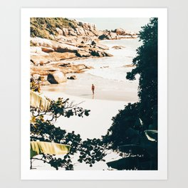 Solo Traveler || #illustration #travel Art Print