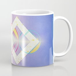 Floating Geometry :: Linked Diamonds Coffee Mug