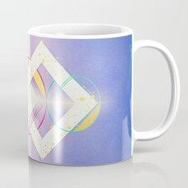 Linked Lilac Diamonds :: Floating Geometry Coffee Mug