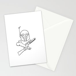Fett and Crossbones Stationery Cards