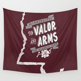 Mississippi Motto (Maroon) Wall Tapestry