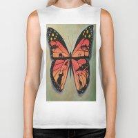 safari Biker Tanks featuring Butterfly safari by Maricruz Ortiz