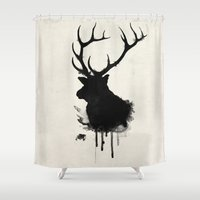 elk Shower Curtains featuring Elk by Nicklas Gustafsson
