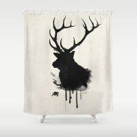 elk Shower Curtains featuring Elk by Nicklas Gustafsson