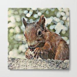 Toony Squirrel Metal Print
