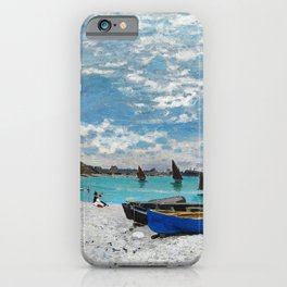 12,000pixel-500dpi - Claude Monet - The Beach at Sainte-Adresse - Digital Remastered Edition iPhone Case