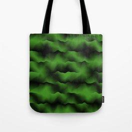 Emerald Green Waves Tote Bag