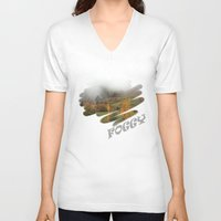 fog V-neck T-shirts featuring FOG by Avigur