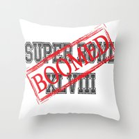 seahawks Throw Pillows featuring Seahawks' Super Bowl WIN by kltj11