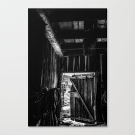 Did you Grow Up in a Barn Canvas Print
