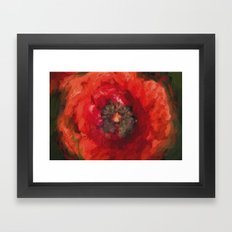 Poppy heart Framed Art Print