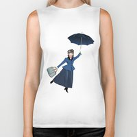 mary poppins Biker Tanks featuring Mary Poppins by Vannina