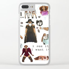 Queen Bey Formation Tribute Clear iPhone Case