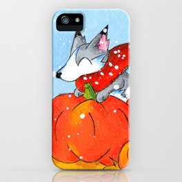 Wolf in the Pumpkin Patch iPhone Case