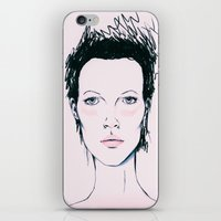 kate moss iPhone & iPod Skins featuring Moss by Lexi Edwards