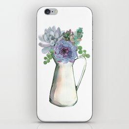 Succulents in Pitcher iPhone Skin