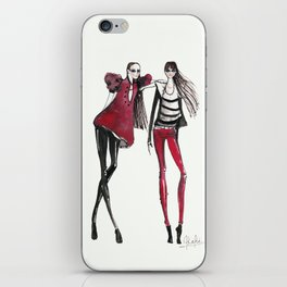 Black & Red iPhone Skin
