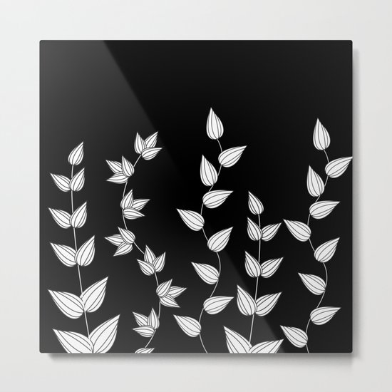 Black and White Garden Metal Print