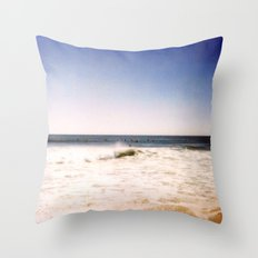 New York Summer at the Beach #2 Throw Pillow