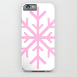 Snowflake (Pink & White) iPhone Case