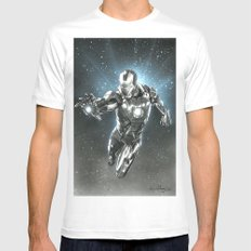 Iron man Mens Fitted Tee White SMALL