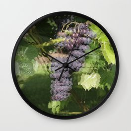 Seeing Double? Maybe its too much fruit of the vine! Wall Clock