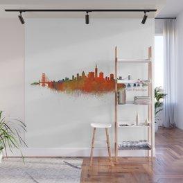 San Francisco City Skyline Hq v2 Wall Mural
